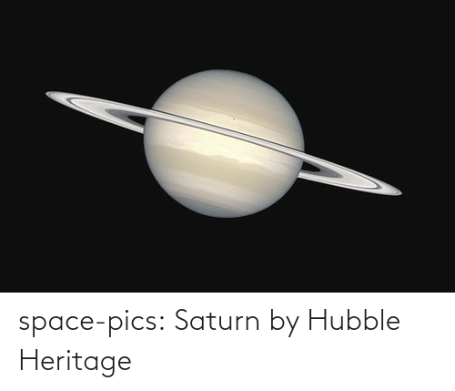 Space: space-pics:  Saturn by Hubble Heritage