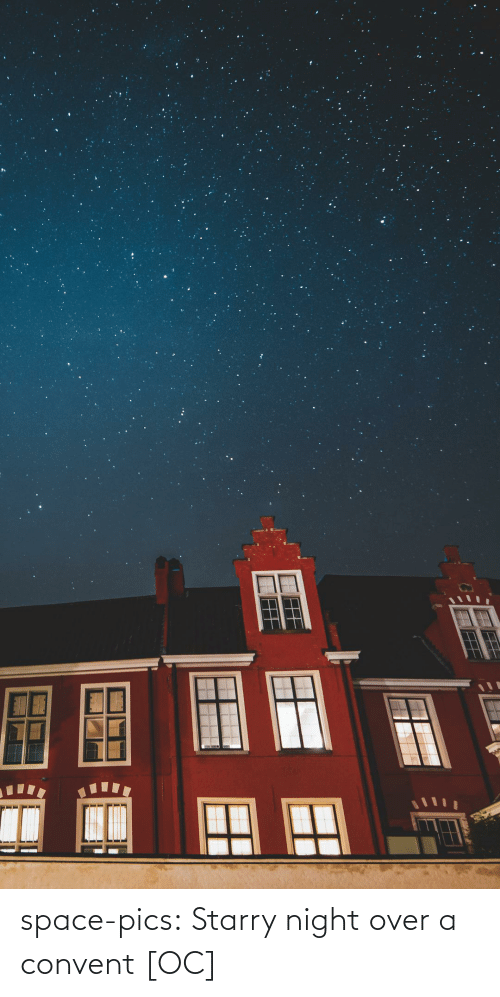 Space: space-pics:  Starry night over a convent [OC]