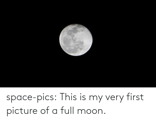 Tumblr, Blog, and Moon: space-pics:  This is my very first picture of a full moon.