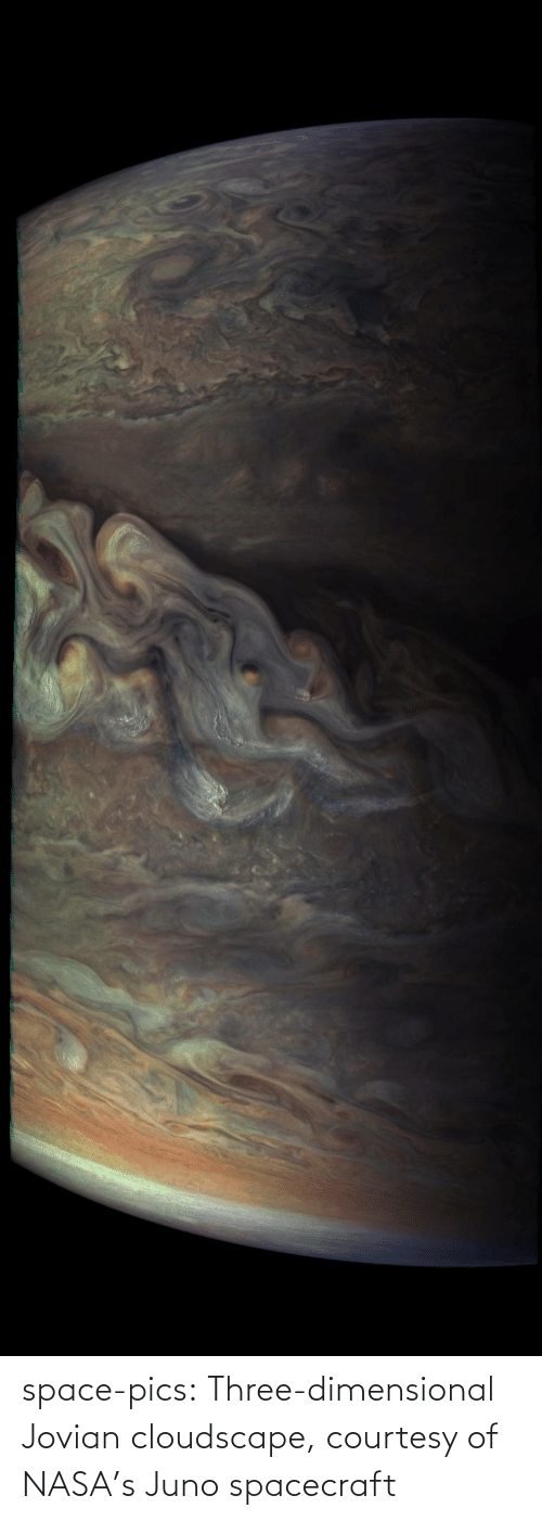pics: space-pics:  Three-dimensional Jovian cloudscape, courtesy of NASA's Juno spacecraft