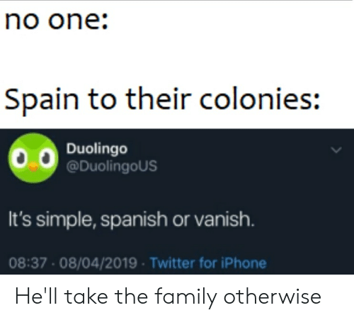 Spain to Their Colonies Duolingo It's Simple Spanish or Vanish 0837
