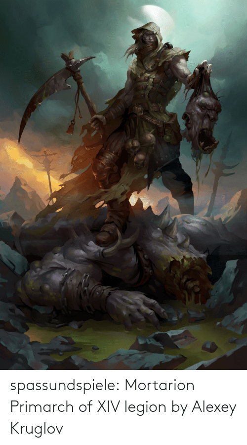 fan art: spassundspiele:  Mortarion Primarch of XIV legion by Alexey Kruglov