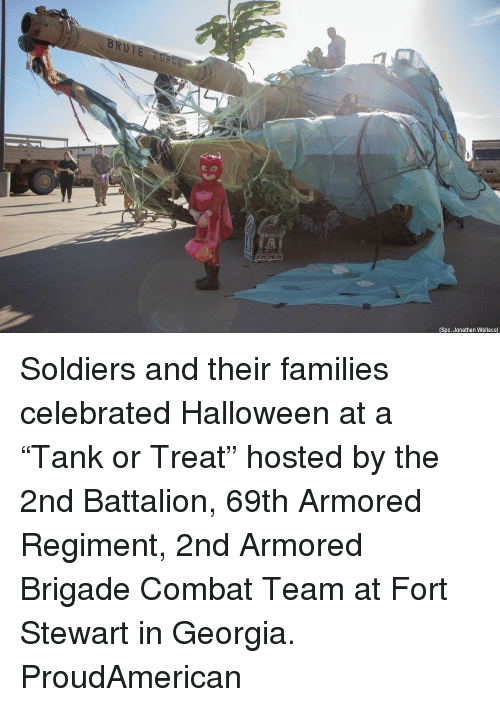 "spc: (Spc. Jonathan Wallace) Soldiers and their families celebrated Halloween at a ""Tank or Treat"" hosted by the 2nd Battalion, 69th Armored Regiment, 2nd Armored Brigade Combat Team at Fort Stewart in Georgia. ProudAmerican"