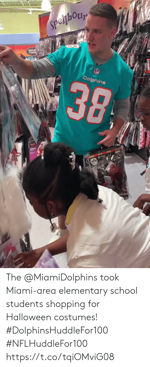 miami: Speljhory  INFANT  TODDI  alic  38  Dolphins The @MiamiDolphins took Miami-area elementary school students shopping for Halloween costumes! #DolphinsHuddleFor100 #NFLHuddleFor100 https://t.co/tqiOMviG08