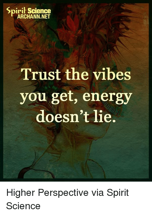 The Vibe: Spirit Science  ARCHANN.NET  Trust the vibes  you get, energy  doesn't lie. Higher Perspective via Spirit Science