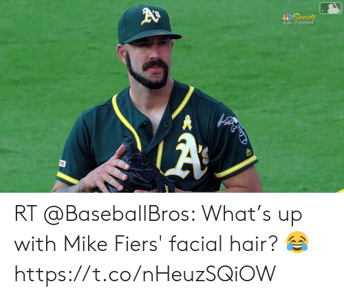 Sports, California, and Hair: Sports  CALIFORNIA  A  150 RT @BaseballBros: What's up with Mike Fiers' facial hair? 😂 https://t.co/nHeuzSQiOW