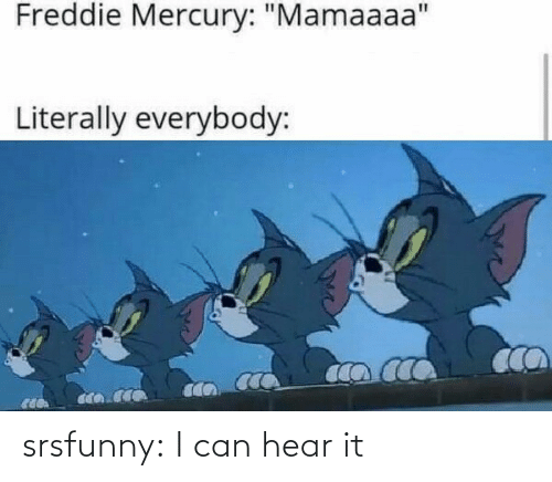 i can: srsfunny:  I can hear it