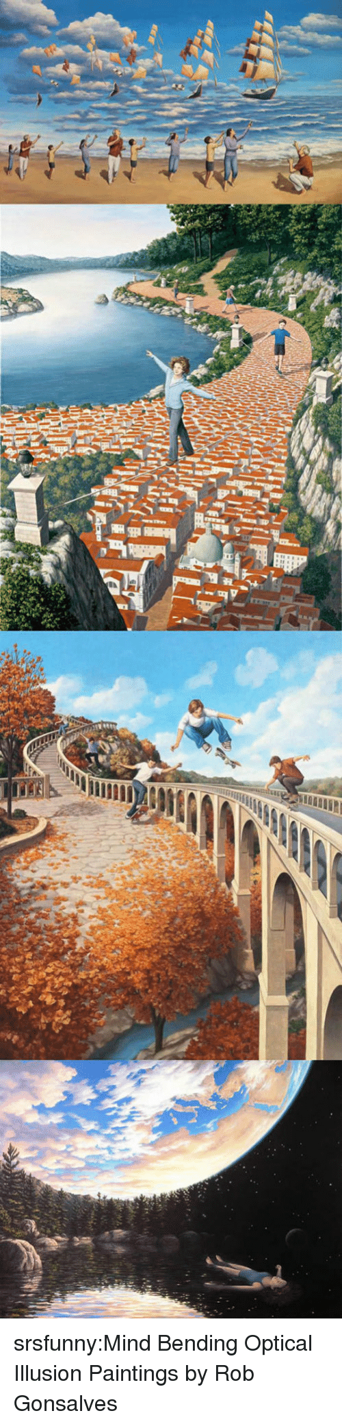 Optical Illusion: srsfunny:Mind Bending Optical Illusion Paintings by Rob Gonsalves