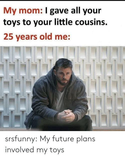 Toys: srsfunny:  My future plans involved my toys