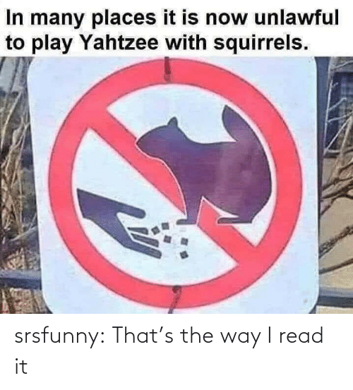 the way: srsfunny:  That's the way I read it
