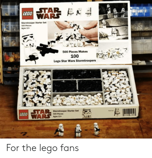 Lego Star Wars: STAR  LEGO  500 Pleces Makes  100  Lego Star Wars Stormtroopers  LEGO For the lego fans