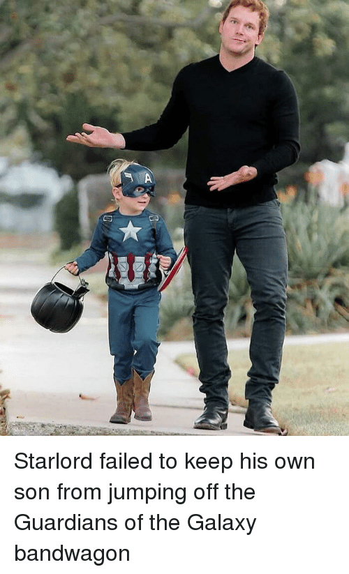 Be Like, Dad, and Funny: Starlord failed to keep his own son from jumping off the Guardians of the Galaxy bandwagon