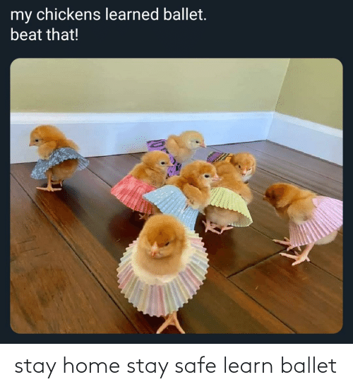 safe: stay home stay safe learn ballet