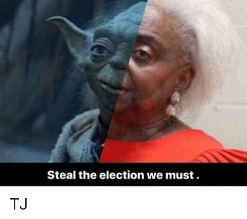 Memes, 🤖, and Election: Steal the election we must TJ