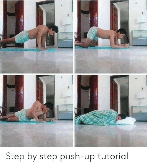 push: Step by step push-up tutorial
