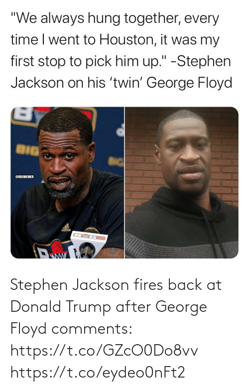 Trump: Stephen Jackson fires back at Donald Trump after George Floyd comments: https://t.co/GZcO0Do8vv https://t.co/eydeo0nFt2