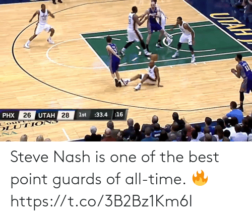 steve: Steve Nash is one of the best point guards of all-time. 🔥 https://t.co/3B2Bz1Km6I