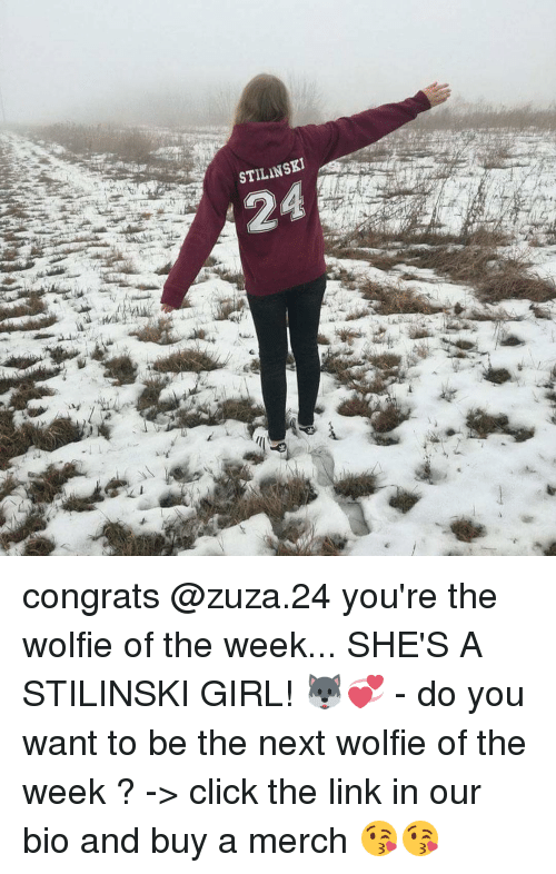 wolfies: STILINSKI congrats @zuza.24 you're the wolfie of the week... SHE'S A STILINSKI GIRL! 🐺💞 - do you want to be the next wolfie of the week ? -> click the link in our bio and buy a merch 😘😘