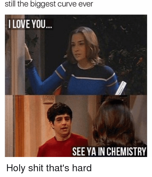 Holi Shit: still the biggest curve ever  I LOVE YOU  SEE YA INCHEMISTRY Holy shit that's hard