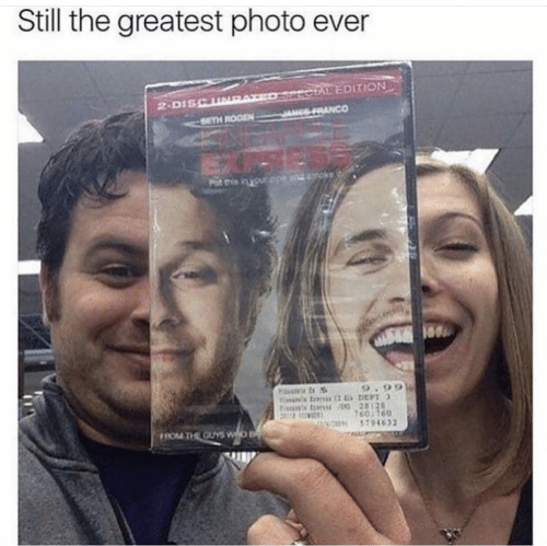 The Greatest: Still the greatest photo ever  ECTAL EDITION  SRANCO  2-DISCUNE  SETH ROGEN  ndmoke  Put this in your ope  Fitumie t S  9.99  tins tons 28128  7601760  5794632  FROM THE GUYS WO B