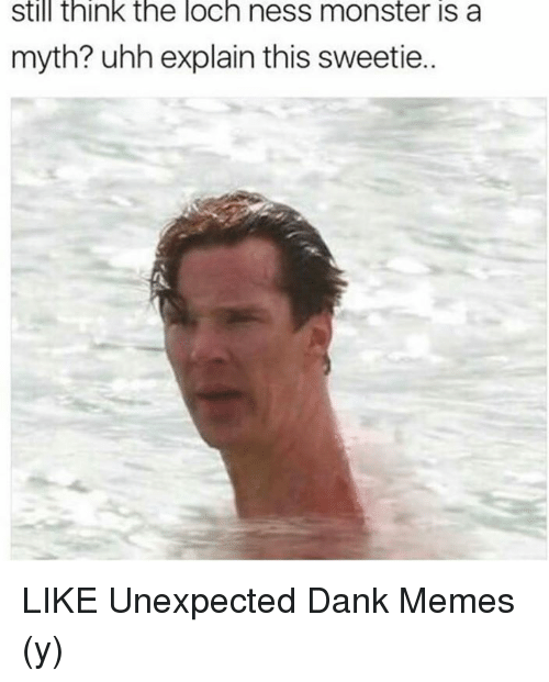 The Loch: still think the loch ness monster is a  myth? uhh explain this sweetie.. LIKE Unexpected Dank Memes (y)
