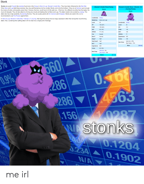 Stonk Stonks Are Purple Fwoosh Like Enemies Found Only In