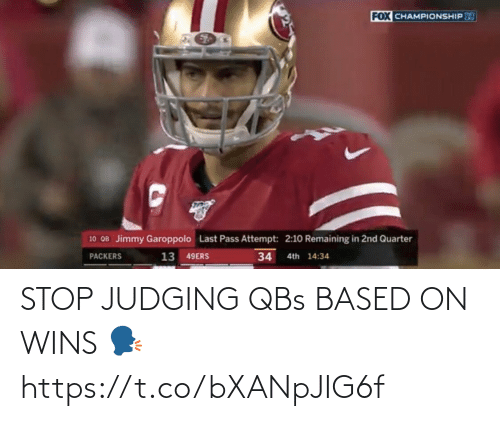 NFL: STOP JUDGING QBs BASED ON WINS 🗣 https://t.co/bXANpJIG6f