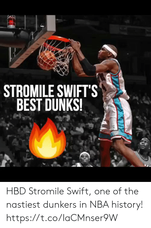 NBA: STROMILE SWIFTS  BEST DUNKS! HBD Stromile Swift, one of the nastiest dunkers in NBA history!  https://t.co/IaCMnser9W