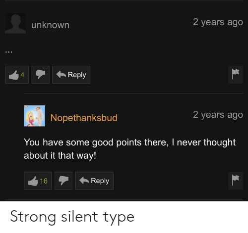 type: Strong silent type