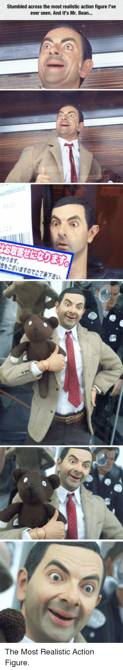 Mr. Bean, Bean, and Action: Stumbled across the most realistic action figure I've  ever seen. And it's Mr. Bean...  ASTERPI  かります  合もございますのでご了承下さい <p>The Most Realistic Action Figure.</p>