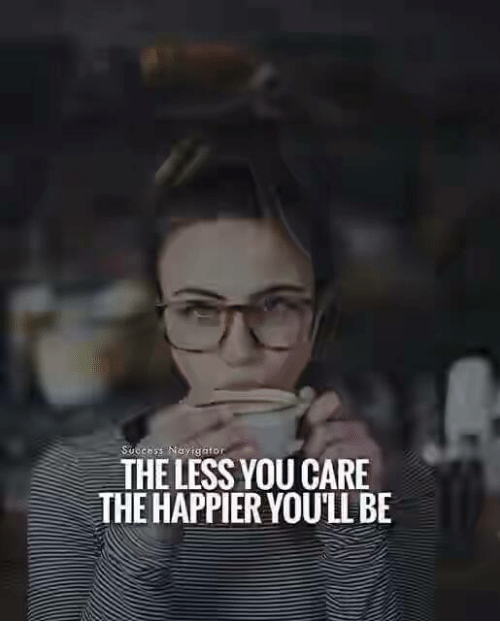 Success, You, and The Less You Care: Success Nay gator  THE LESS YOU CARE  HE HAPPIER YOULL BE
