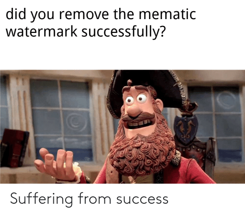 Suffering: Suffering from success