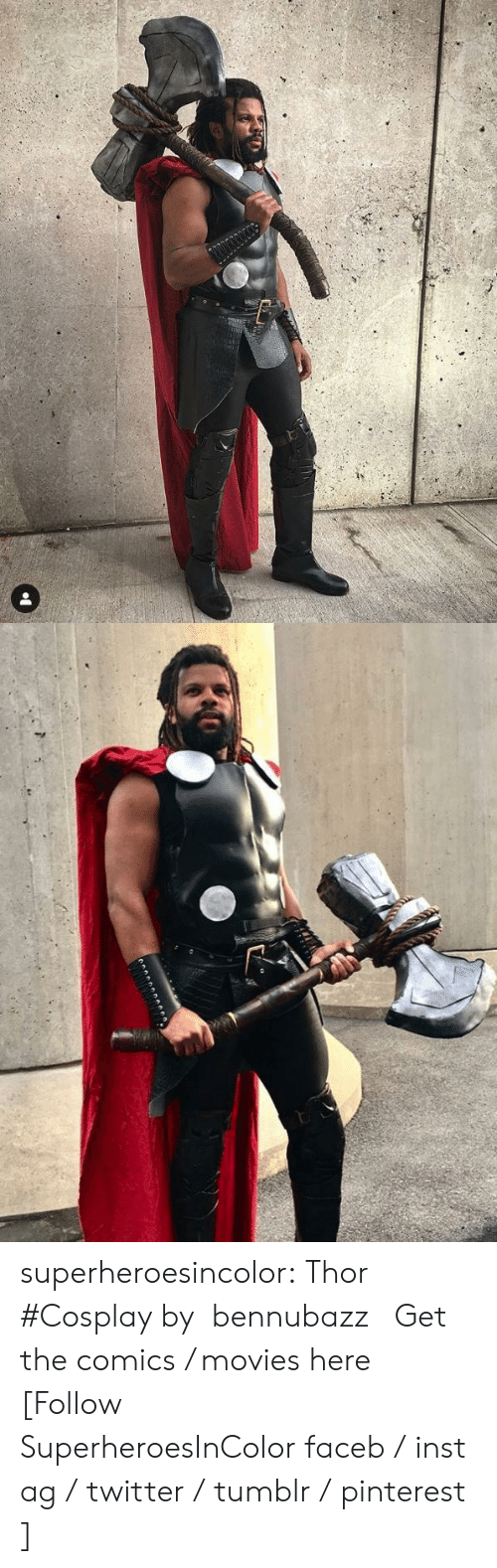 Sans: superheroesincolor: Thor #Cosplay by  bennubazz    Get the comics / movies here [Follow SuperheroesInColor faceb / instag / twitter / tumblr / pinterest]