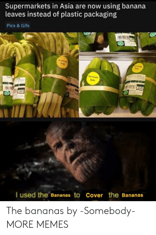 Dank, Memes, and Target: Supermarkets in Asia are now using banana  leaves instead of plastic packaging  Pics & Gifs  Pitils  P de  Sale  I used the Bananas to Cover the Bananas The bananas by -Somebody- MORE MEMES