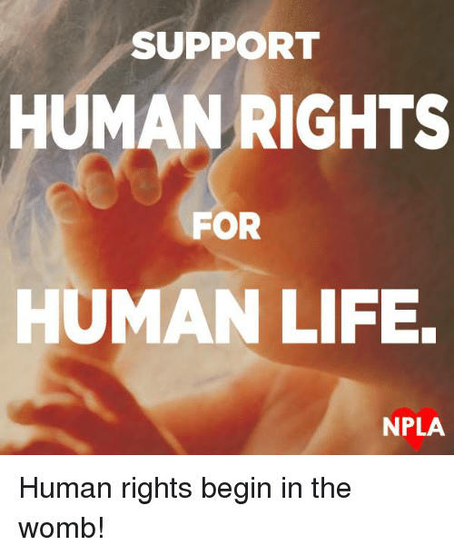 Npla: SUPPORT  HUMAN RIGHTS  FOR  HUMAN LIFE.  NPLA Human rights begin in the womb!