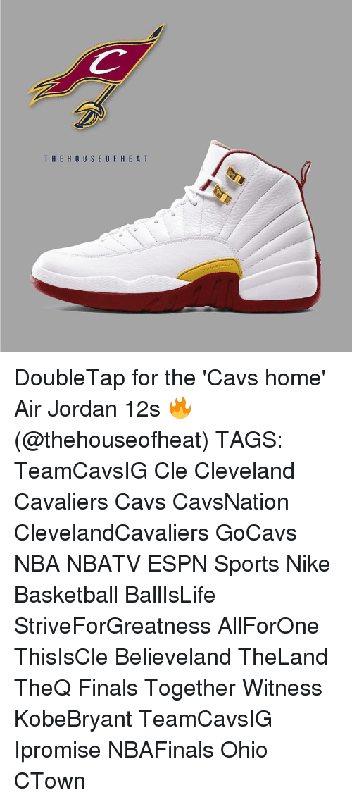 Air Jordan, Cavs, and Cleveland Cavaliers: T HE HOUS E O F H E A T DoubleTap for the 'Cavs home' Air Jordan 12s 🔥 (@thehouseofheat) TAGS: TeamCavsIG Cle Cleveland Cavaliers Cavs CavsNation ClevelandCavaliers GoCavs NBA NBATV ESPN Sports Nike Basketball BallIsLife StriveForGreatness AllForOne ThisIsCle Believeland TheLand TheQ Finals Together Witness KobeBryant TeamCavsIG Ipromise NBAFinals Ohio CTown