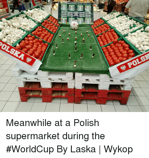 Dank, 🤖, and Polish: TA-ROA 201  POLSK Meanwhile at a Polish supermarket during the #WorldCup   By Laska | Wykop