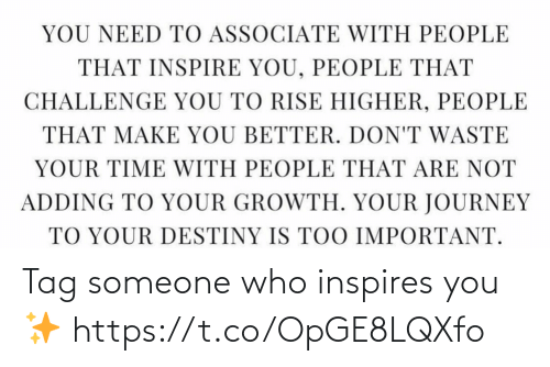 Someone Who: Tag someone who inspires you✨ https://t.co/OpGE8LQXfo