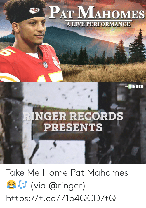 ballmemes.com: Take Me Home Pat Mahomes 😂🎶 (via @ringer) https://t.co/71p4QCD7tQ
