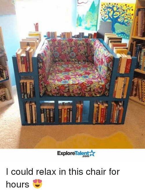 talent explore: Talent  Explore I could relax in this chair for hours 😍