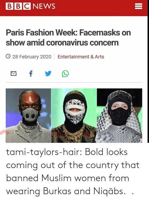 Out Of: tami-taylors-hair: Bold looks coming out of the country that banned Muslim women from wearing Burkas and   Niqābs.   .