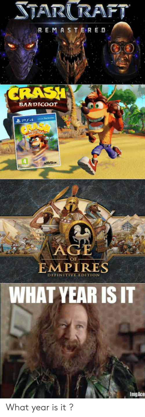 what year is it: TARRAFT  R E.MASTER E D  RASH  BANDICOOT  OF  EMPIRES  DEFINITIVE EDITION  WHAT YEAR IS IT  ImgAce What year is it ?