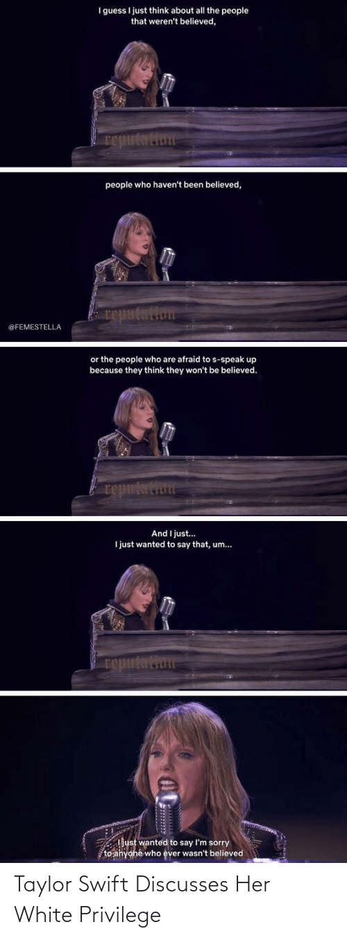 victim: Taylor Swift Discusses Her White Privilege