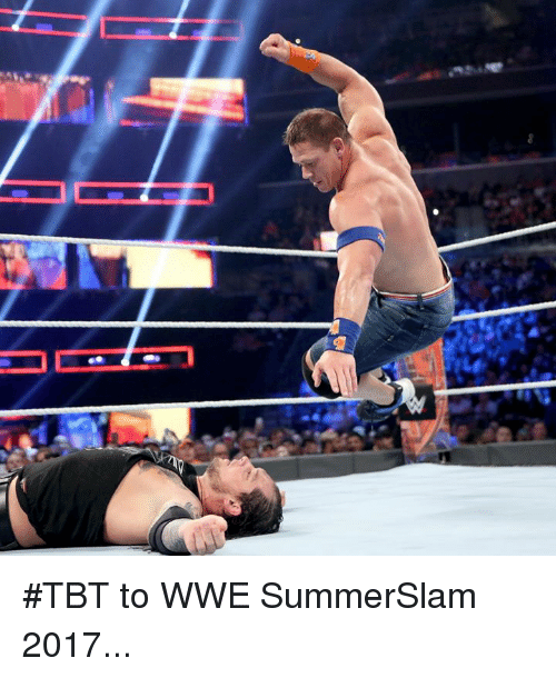 Tbt, World Wrestling Entertainment, and Summerslam: #TBT to WWE SummerSlam 2017...