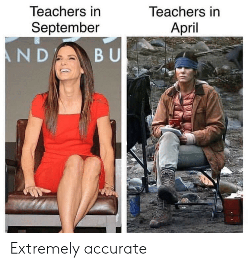 April, September, and Teachers: Teachers in  April  leachers in  September Extremely accurate