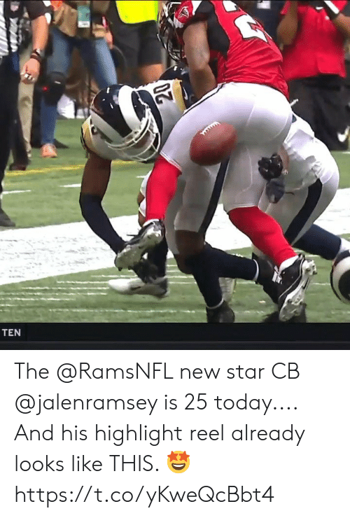 highlight: TEN The @RamsNFL new star CB @jalenramsey is 25 today....  And his highlight reel already looks like THIS. 🤩 https://t.co/yKweQcBbt4