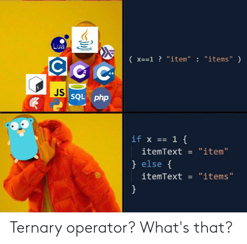 Operator: Ternary operator? What's that?