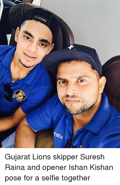 Memes, Selfie, and Lions: TeX Gujarat Lions skipper Suresh Raina and opener Ishan Kishan pose for a selfie together
