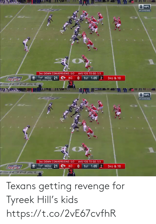 Texans: Texans getting revenge for Tyreek Hill's kids https://t.co/2vE67cvfhR