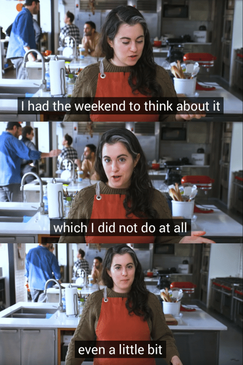 The Weekend, Weekend, and Think: Thad the weekend to think about it   which I did not do at all   en a little bit